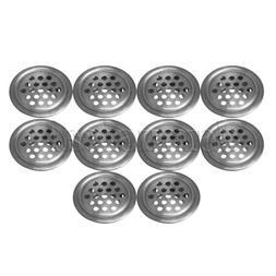 10 Pieces Stainless Steel Soffit Air Vents Round Vent Mesh H