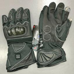 Venture 12V Heated Carbon Knuckle Motorcycle Riding Gloves M