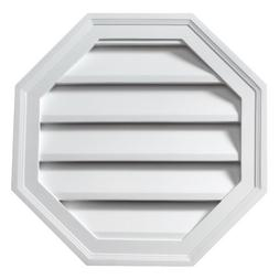 """24""""W x 24""""H Octagon Louver, Functional"""