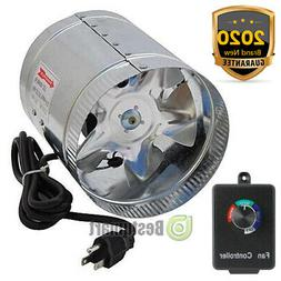 """4"""" 6"""" 8"""" Duct Booster Inline Fan Blower Exhaust Ducting Cool"""