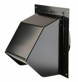 Broan 843BL 6 Round Duct Black Wall Cap with Damper