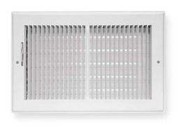 """Air Register 2-Way 4"""" x 10"""" Duct Size Heat AC Wall Ceiling H"""