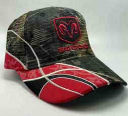 Dodge Camouflage & Red Strap Back Vented Paramount Outdoors