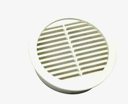 """Circular Mini Wall Louver Soffit Vent in White  3""""  Resin  M"""