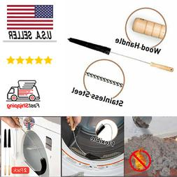 2 Pack Dryer Vent Cleaner Kit Dryer Lint Brush Vent Trap Cle