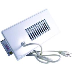 Duct Booster Fan White Register Grille Air Vent Built-In The
