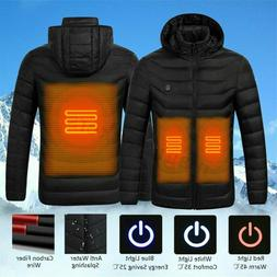 Electric USB Heated Vest Unisex Winter Riding Skiing Warm He