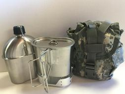 G.I.Style 1 qt.Stainless Steel Canteen/Cup / Vented Lid and
