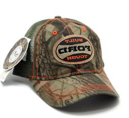 HAT - Ford Built Tough Realtree Mess Vented Trucker Style Ba