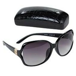 IMAN Global Chic Vented Sunglasses with Croco Embosed Case