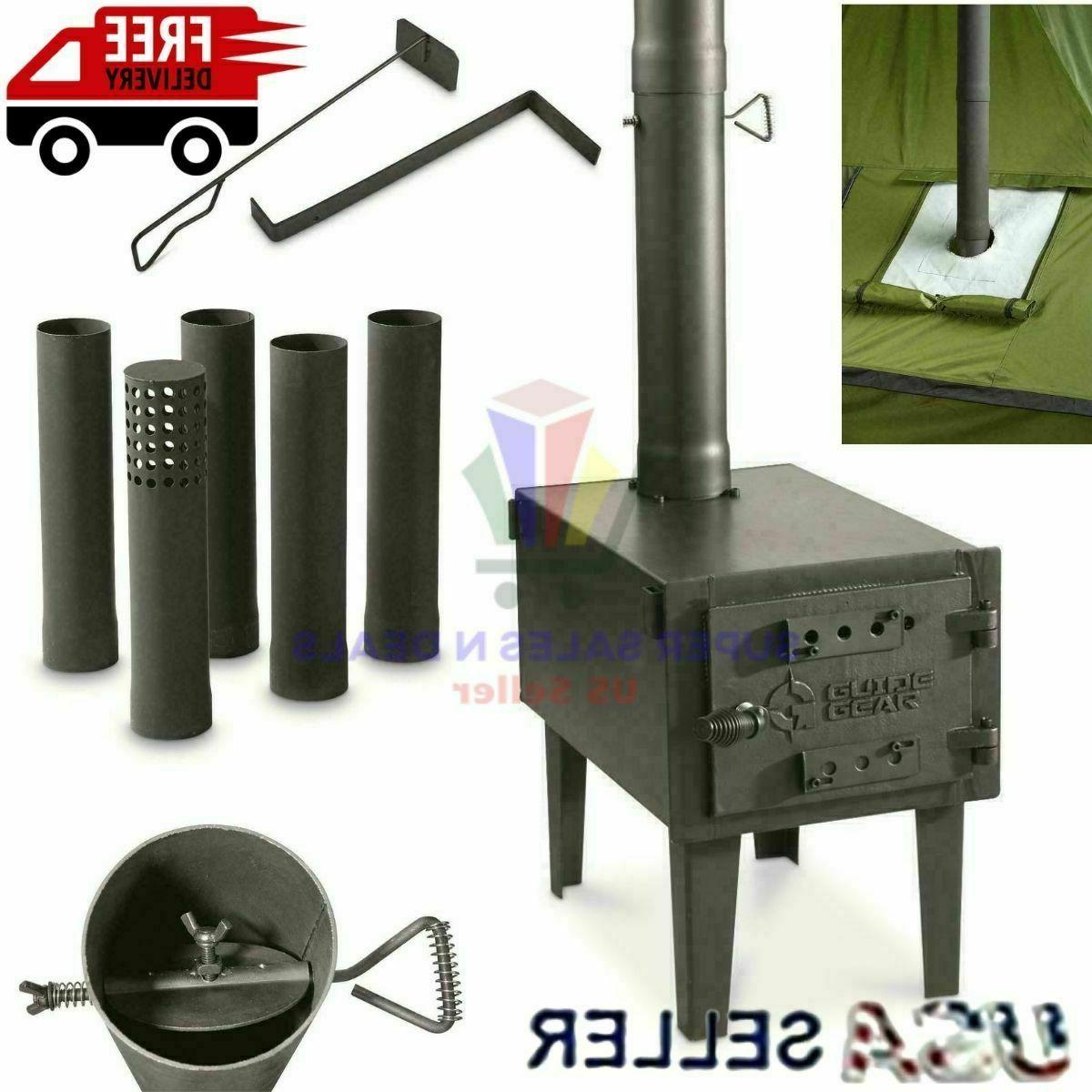 portable outdoor camping camp cooking warm wood