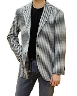 Men Suits Houndstooth Coats Business Blazer Tuxedos Tailored