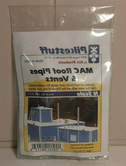 N Scale Pikestuff  MAC Roof Pipes and Vents, New
