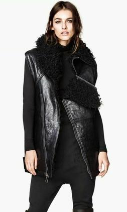 NEW H&M Collection Autumn 2013 Leather Oversized Moto Vest S