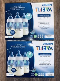 NIB 2 Boxes Philips Avent Anti-colic Baby Bottles w/ Air Fre