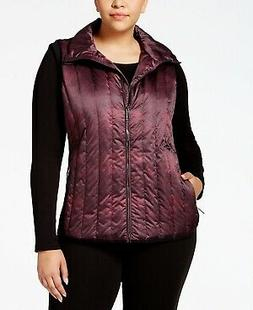 Calvin Klein Performance Plus Size Quilted Vest Shade Print
