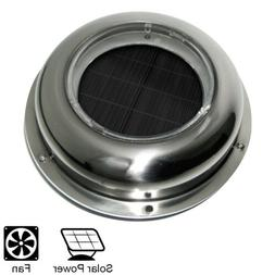 Solar Powered Exhaust Fan Vent Ventilation Stainless Steel f