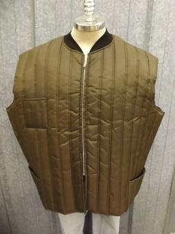 USA Made Vtg NEW Midwest Outerwear Mens 4X LONG Dk Brown Qui