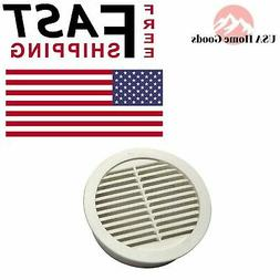 White Resin Circular Mini Wall Louver Soffit Vent  4 in. Flo