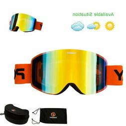 Winter Sking Snow Board Goggles Dual-Vented Double Lens  Sno